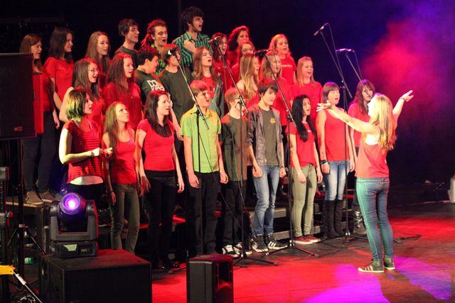 Terka Directing the Choir